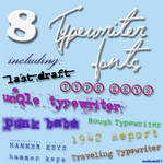 8 Typewriter Fonts