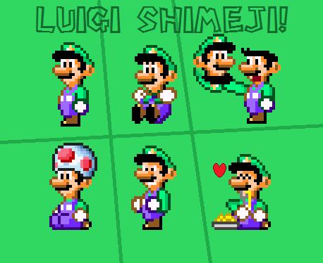 Luigi Shimeji (Super Mario World)