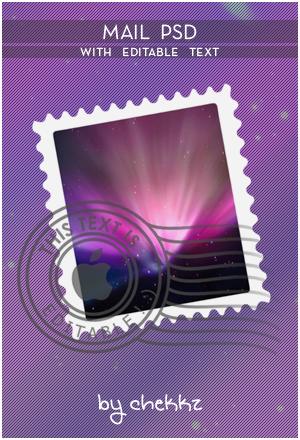 Mail PSD w. Editable Text xD