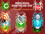 Spider social icons pack