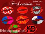 8  Kiss Social  icons