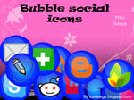 bubble social icons