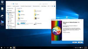 Ribbon + Title + Icon Remover for Win10 Explorer