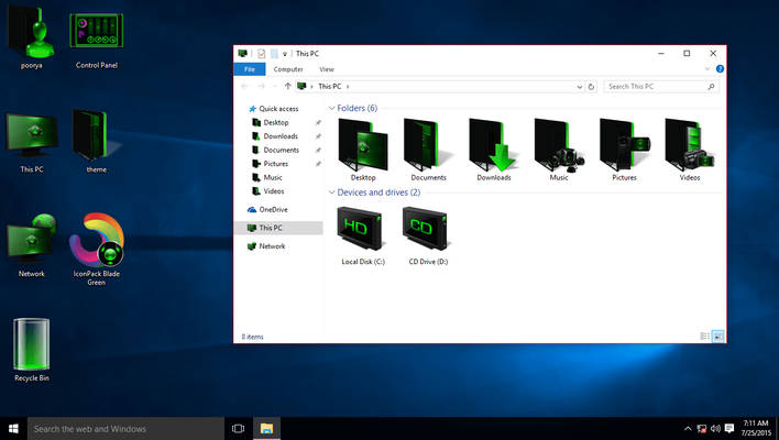 Green IconPack for Win10