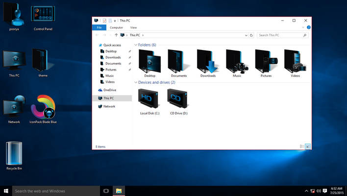 Blue IconPack for Win10