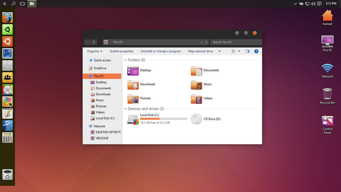 Ubuntu theme for Win10 by hamed1987s on DeviantArt
