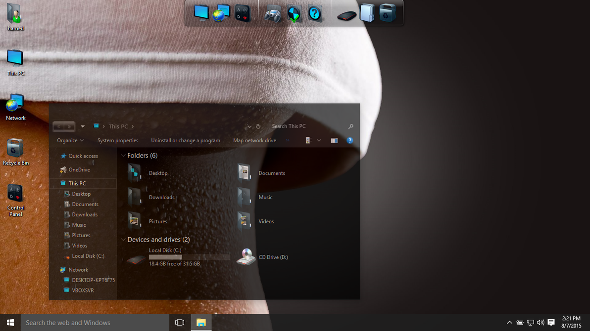 Dark Glass theme for Win10 - SkinPack - Customize Your