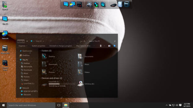 Dark Glass theme for Win10