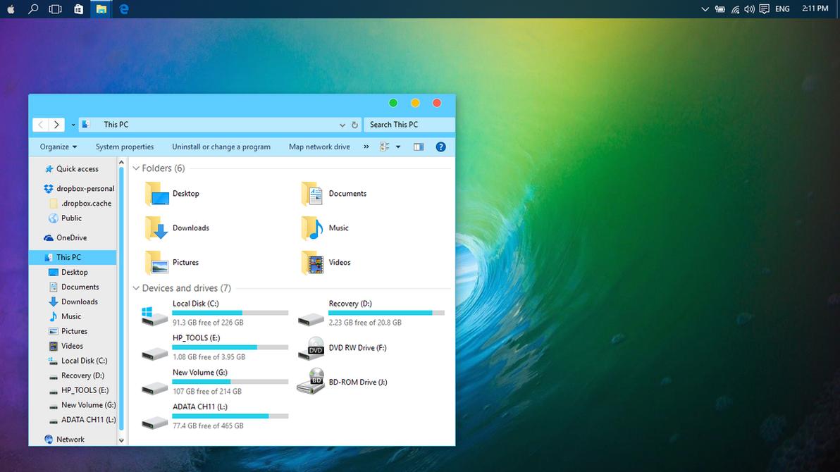 Mac OSX El Capitan Blue theme for Win10 - Themes & Visual