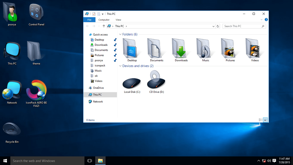 AERO IconPack for Win10 by hamed1987s