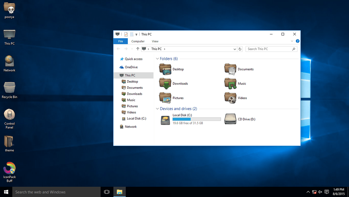 Buff IconPack for Win10 by hamed1987s