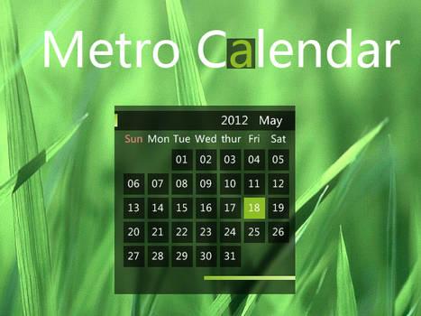 Metro_Calendar for xwidget