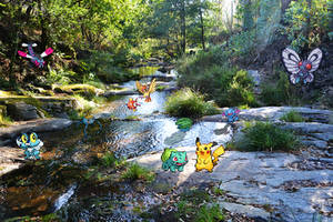 Real Bits - Pokemon Special: River in the forest by VictorSauron