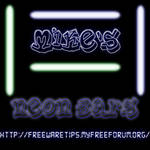 Gimp Brushes Neon Bars by michaelsboost