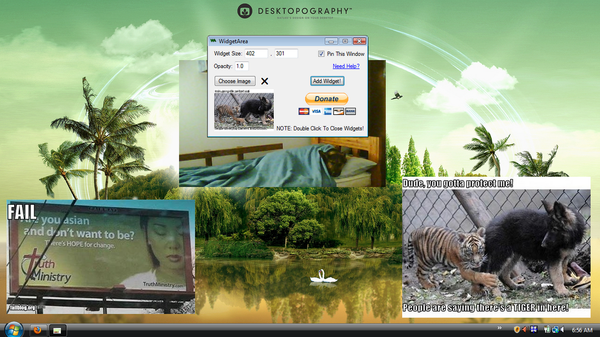 WidgetArea: Use Images On Your HD As A Widget by mikethedj4