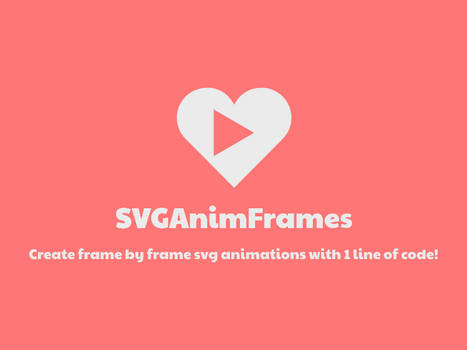 SVGAnimFrames: SVG Frame by Frame Animations