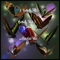 Stock Butterfly Pack 2 by Twins72