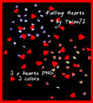 Stock Falling Hearts