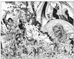 King Conan Battles the Undead by billyjimbo
