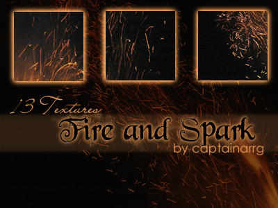 fire and spark textures