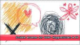 Scribble Brushes by Huggies123abc