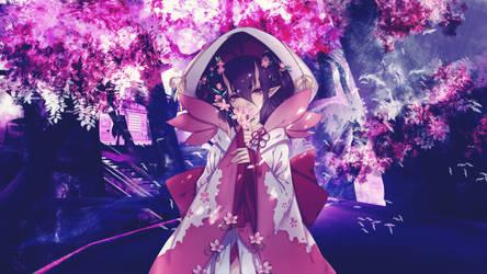 [Wallpaper Engine] Cherry Blossom - Demon Girl