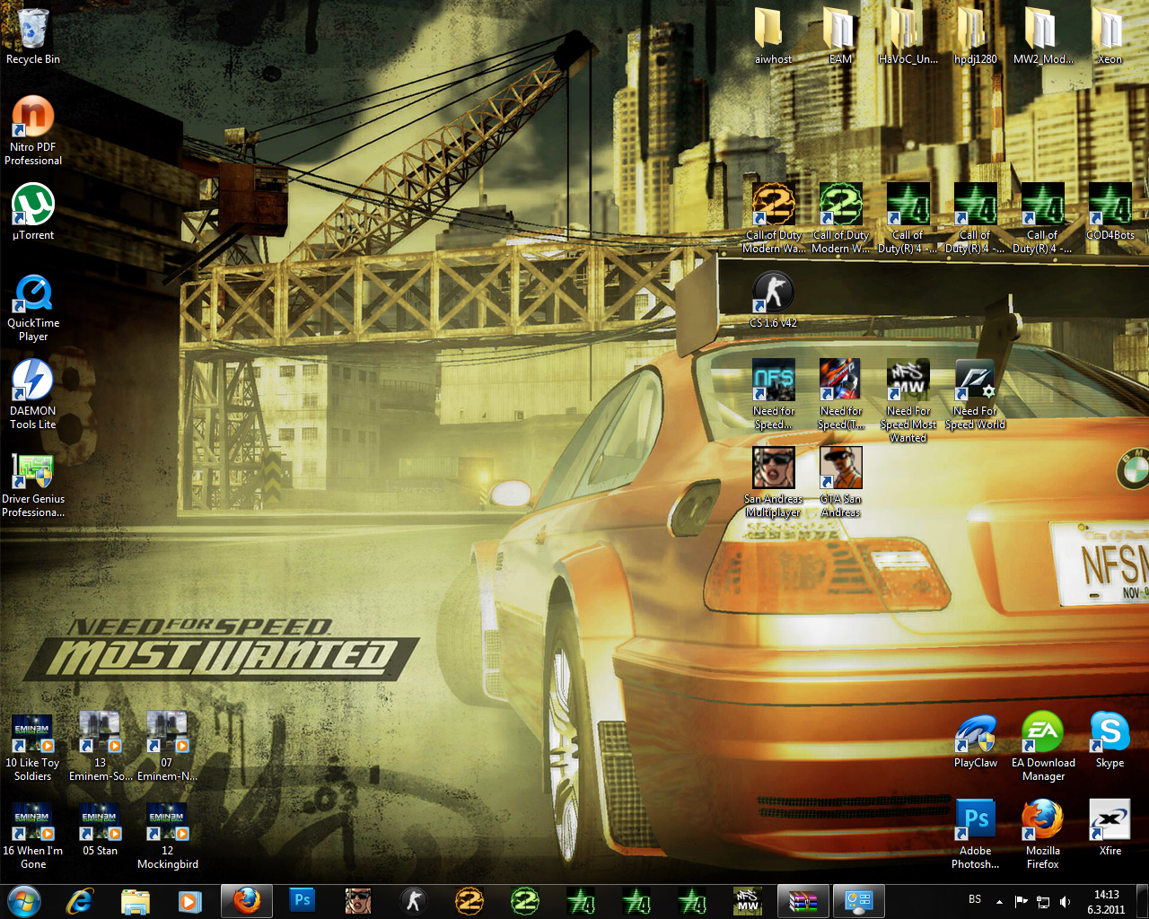 NFS Most Wanted Win7 Theme by Marijo-4ever