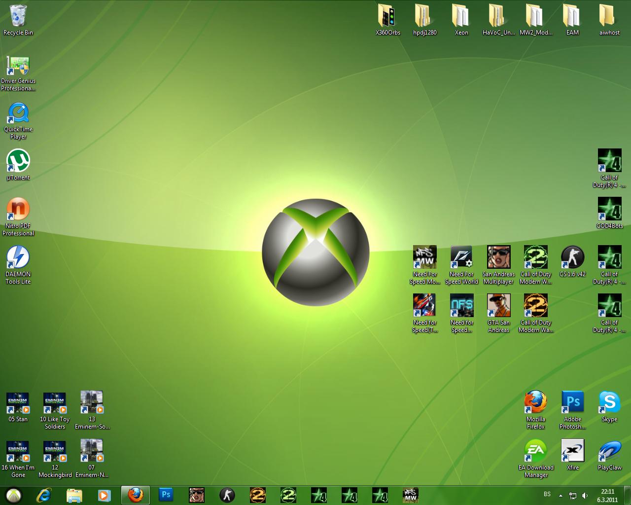XBOX 360 Theme for Windows 7