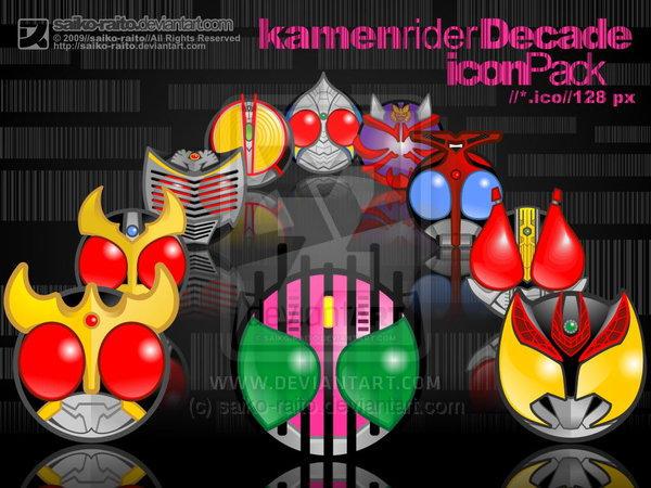 Kamen Rider Decade Icon Pack by saiko-raito