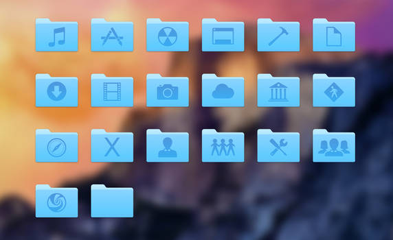 Yosemite folders  by shule1987