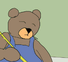 Tidy bear in colour by Louvan