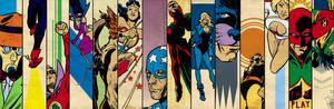 JSA 40's banner for Blastoff Comics