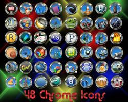 48 chrome Icons by 0dd0ne