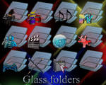 Blue Glass folders