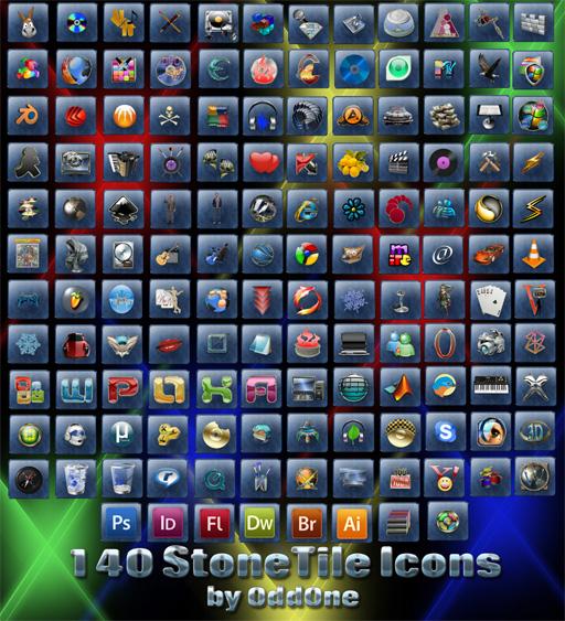 140 Stone Tile Icons