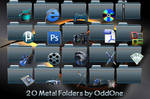 20 Blue Metal folders