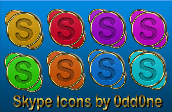 Skype Icons by 0dd0ne