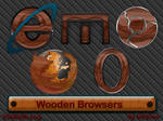 Wooden Browser Icons