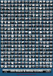 300 Black and White iCONS