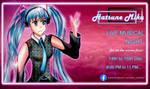 Gif Poster - Imaginary Hatsune Miku Music Event by FarhanAhmed1999