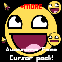 AWESOME FACE CURSOR PACK by Ouchy-S