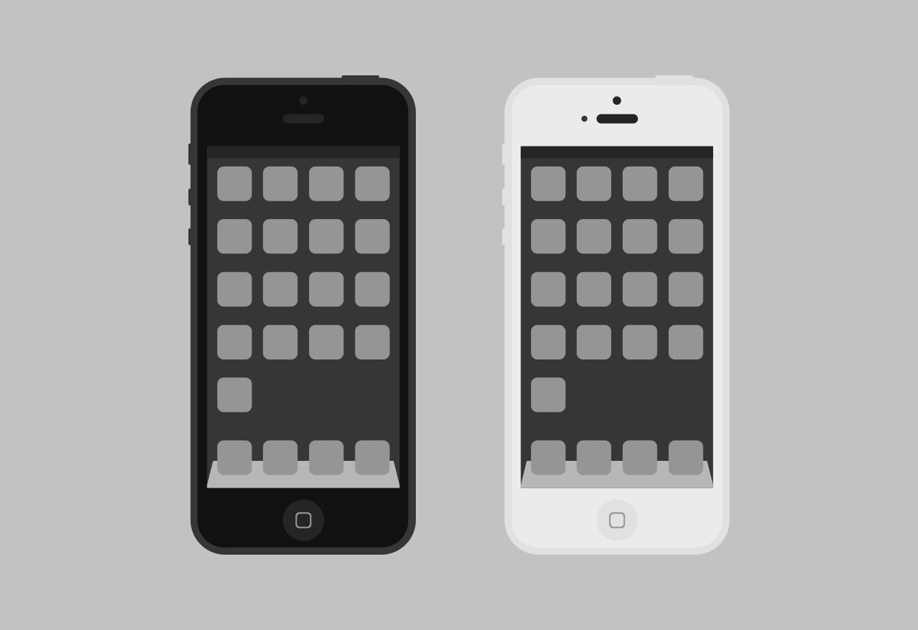 flat iPhone psd by artlambi on deviantART