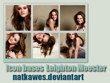 Icon bases - Leighton Meester by Natkawes