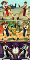 USF4 Mod - Chun Li: Mai Shiranui Cosplay (Socks)