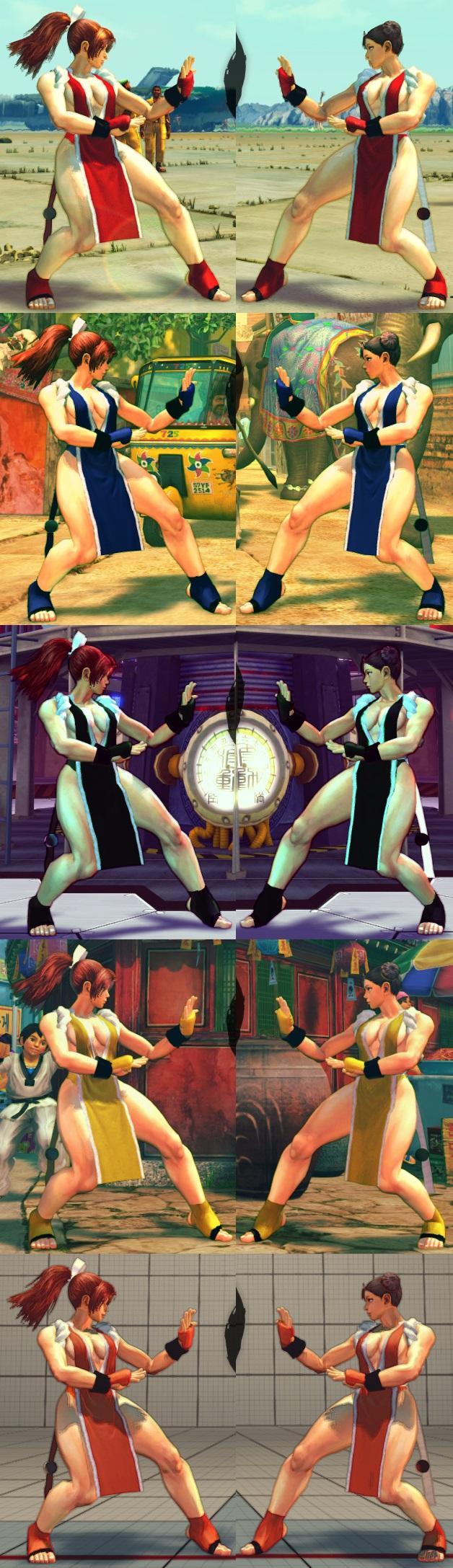 USF4 Mod - Chun Li: Mai Shiranui Cosplay (Socks) by Segadordelinks
