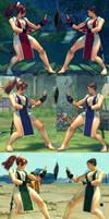 USF4 Mod - Chun Li: Mai Shiranui Cosplay (Feet)