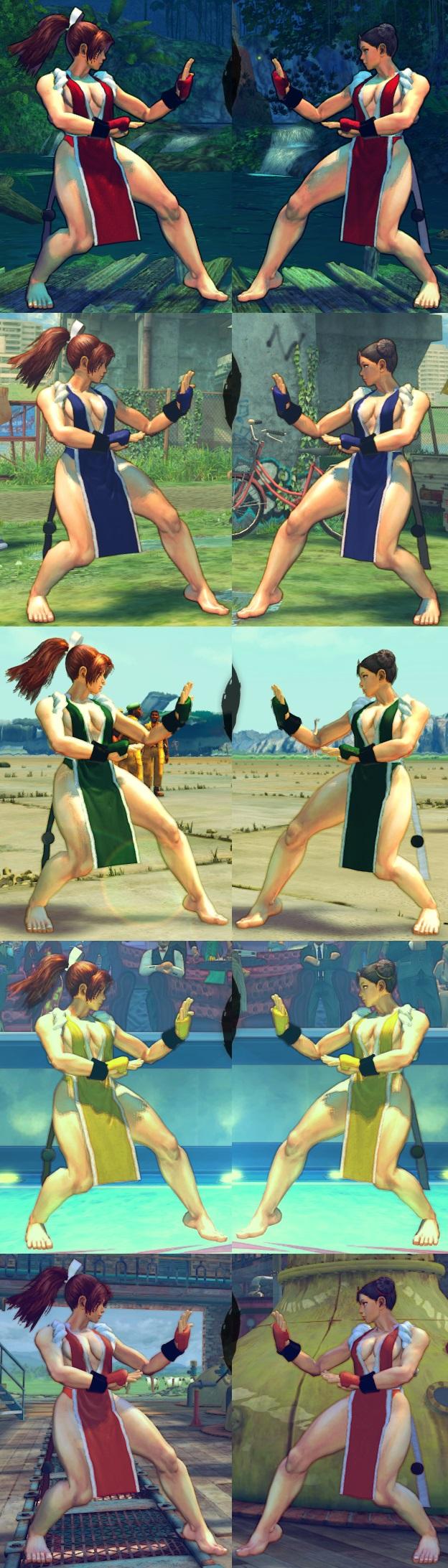 USF4 Mod - Chun Li: Mai Shiranui Cosplay (Feet) by Segadordelinks