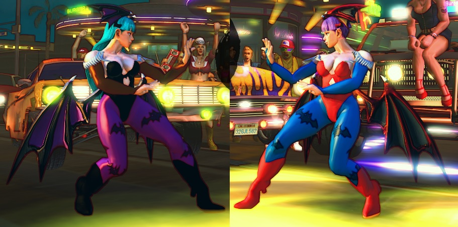 USF4 Mod - Chun Li: Morrigan and Lilith Cosplay by Segadordelinks