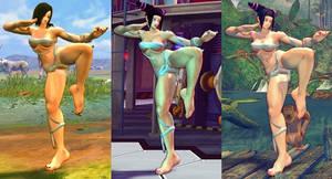 SSF4 Mod - Juri: Mileena's Flesh Pit Costume
