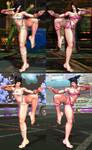 SFxT Mod - Juri: Mileena's Flesh Pit Costume